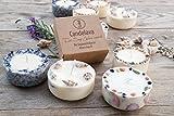 Lavendel-Aromatherapie-handgefertigte-Bio-Sojawachskerze-mit-echten-Kornblumen