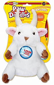 Pawdoodles Krinklers Dog Toy, Goat, Small