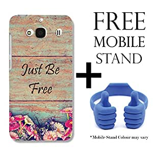 Hamee TM Printed Hard Back Skin Case Cover For Samsung Galaxy On5 Pro Cover with Free Mobile Stand - Combo 4