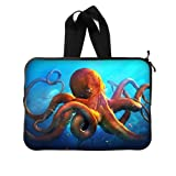 BALLEE Cool Animal Octopus Sticker 15 Inch Laptop Sleeve Bag with Hidden Handle for Laptop / Notebook / Ultrabook / MacBook