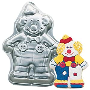 com wilton cute clown cake pan novelty cake pans kitchen dining