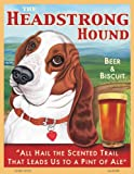 Retro Pets - Basset Hound Art - Headstrong Hound - Beer & Biscuit - 8x10 Art Print from the Pub Pups Series - Ready to Frame