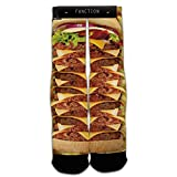 Function - Stacked Cheeseburger And Fries Printed Sock
