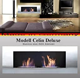 Bio- Ethanol and Fire Gel Fireplace Model Celin Deluxe - Choose from 6 colors (Stainless Steel)