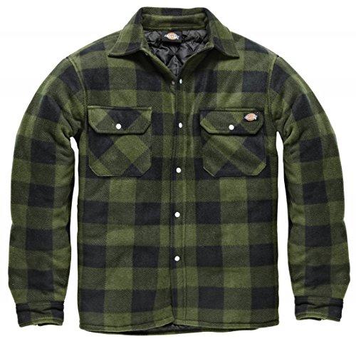 dickies-portland-shirt-high-quality-padded-work-shirt-jacket-polar-fleece-check-design-studded-front