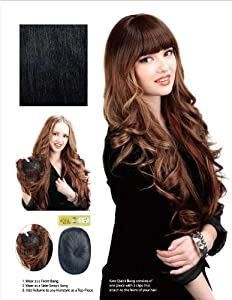 CLIP-ON (PROTA) QUICK BANG - KATE-- HUMAN HAIR ALTERNATIVE MADE WITH NATURAL COLLAGEN PROTEIN