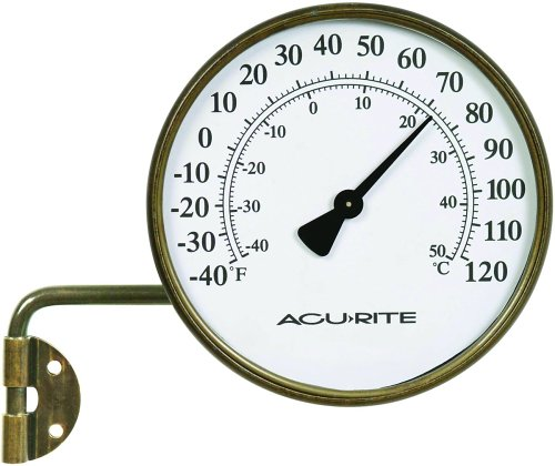 Chaney Instrument 3-1/2-Inch Brass Swivel Thermometer
