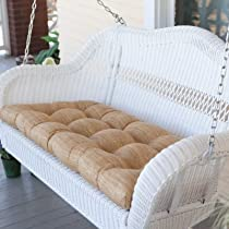 Casco Bay Resin Wicker Porch Swing