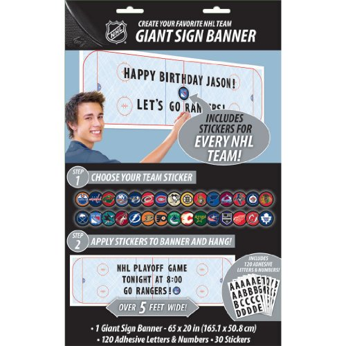 banner giant customizable nhl