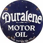 Vintage Duralene Motor Oil Sign 14 Round