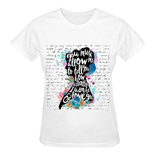 Mr Darcy Ardently Admire Love You Cool T Shirts For Women Crew Neck White