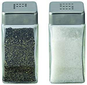 Cuisinox Salt and Pepper Shaker Set, Stainless Steel by Cuisinox