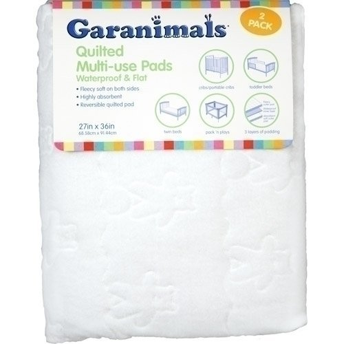 Garanimals Quilted Waterproof Multi-Use Crib Pad, 2-Pack - 1
