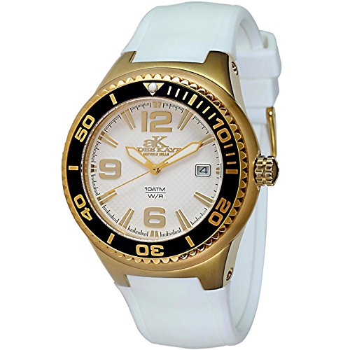 Adee Kaye Yatch ak2230SS-LG/WT 47.4x39.7mm Ceramic Case White Ceramic Mineral Women's Watch