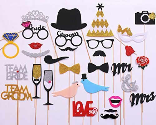 USA-Sales Wedding Photo Booth Props, 31-pieces