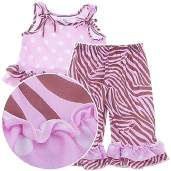 Janimals Pink Zebra Pajamas