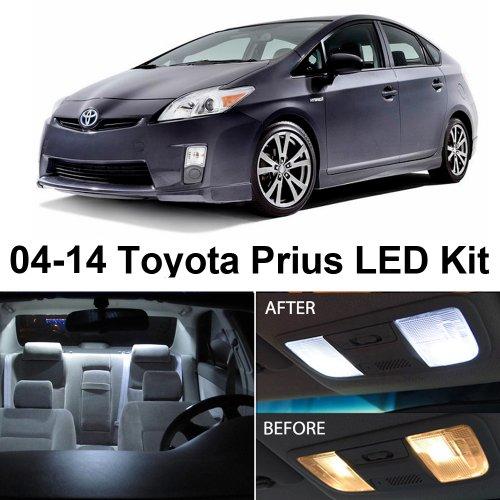 Toyota Prius 2004-2014 Xenon White Premium Led Interior Lights Package Kit (8 Pieces)