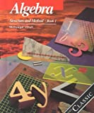 img - for Algebra: Structure and Method, Book 1 book / textbook / text book