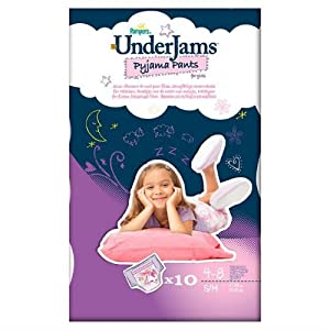 Pampers Underjams Pyjama Pants For Girls 4-8 Years S-M x 10 per pack