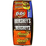 Hershey's Assortment, Variety Pack of Full-Size Bars (Reese's Fast Break, Reese's Cups, Hershey's Bars, Kit-Kat), 2.86 Pound
