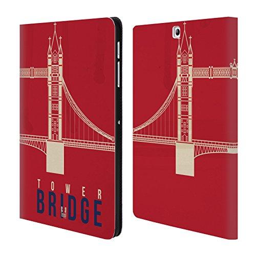 Head Case Designs Tower Bridge Il Meglio Di Londra Cover a portafoglio in pelle per Samsung Galaxy Tab S2 9.7