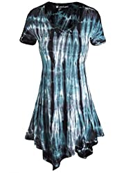 LL Womens All Over Tie-Dye Tunic
