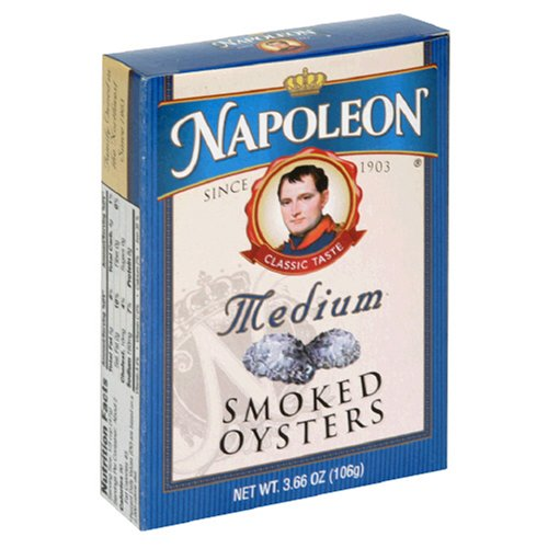 Buy Napoleon Medium Smoked Oysters, 3.66 Ounce Tin (Pack of 25)