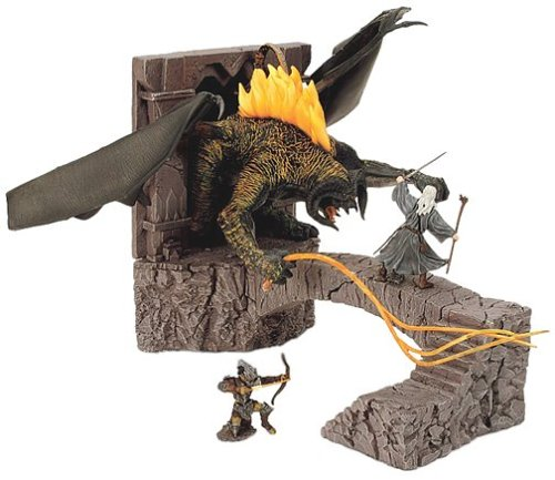 Picture of Play Along Lord of the Rings Armies of Middle Earth Battle Scenes Bridge at Khazad-dum with Balrog Figure (B0000AYKR5) (Play Along Action Figures)