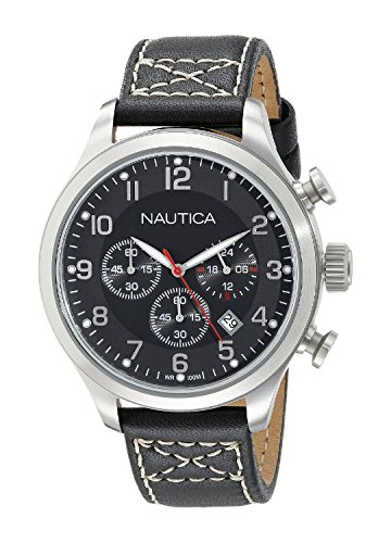 Nautica Men's A14696G BFD 101 Chrono Analog Display Analog Quartz Black Watch (Nautica Black Resin Band compare prices)