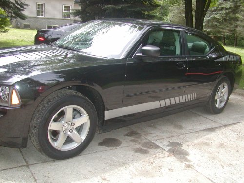 Dodge CHARGER or AVENGER Rocker #1 Stripe Graphics Set