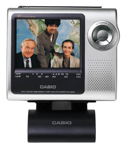 Casio EV-4500 Portable LCD TV with 4-Inch Active-Matrix Display and Desktop Stand