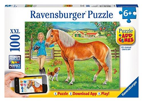 Ravensburger My Favorite Horse Puzzle + App Games Puzzle (100 Piece)