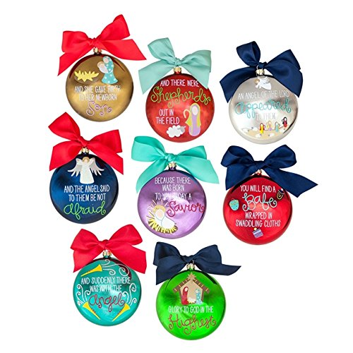 Story of Luke Metallic Ornaments, Set of 8
