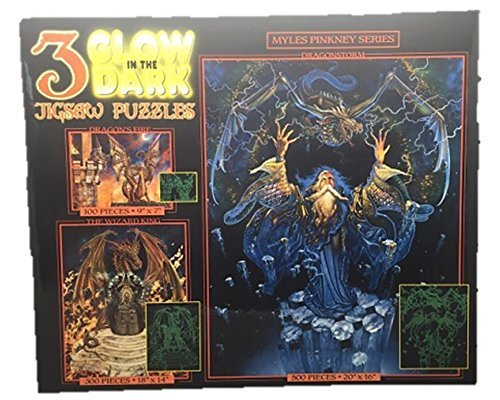 Glow in the Dark Jigsaw Puzzles 3 in 1 Box - 1