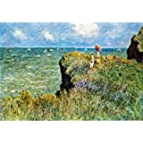 (13x19) Claude Monet Walk on the Cliffs Art Print Poster