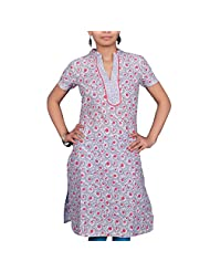 VGF 1/2 Sleeve Printed Cotton Kurti For Women
