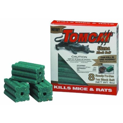 Tomcat 100-31239-9 8-Count All Weather Rat Killer Ultra Block Bait, 1-Ounce