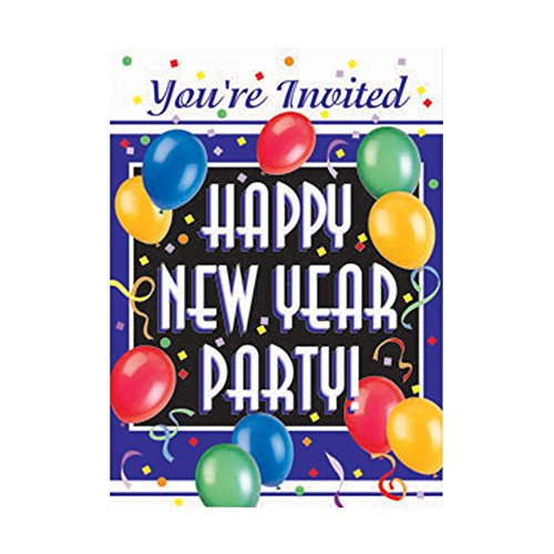 New Years Blast Invitations, 8ct