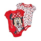 2PK Disney Minnie Mouse Baby Bodysuit Baby Romper 3-6 Months