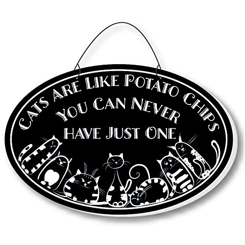 Cool Cats Cat-Gang Oval Laser-Etched 3-In-1 Plaques Like Potato Chips Black front-297672