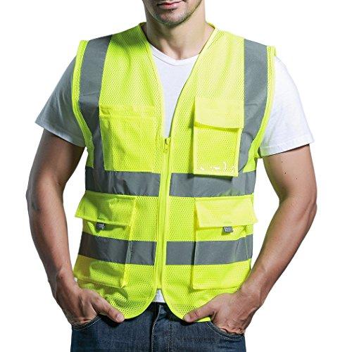 Panegy Rete Alta Visibilitš€ Gilet di Sicurezza per Lavoratore - Neon Giallo