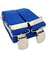 Bretelles de haute qualité pour Femmes / Hommes avec 4 XL CLIPS extra fort 3,5cm large en 10 couleur design differentes - Fabriqué en Allemagne