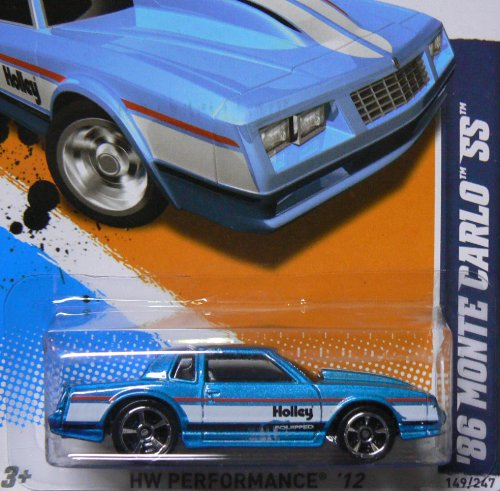 2012 Hot Wheels HW Performance '86 Monte Carlo SS Blue #149/247
