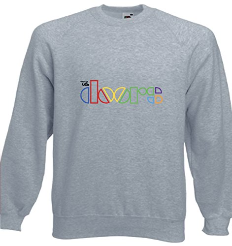 Art T-shirt, Felpa Raglan The Doors, Uomo, Grigio, S