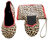 Ladies 1 Pair Tipsy Feet Leopard Print Foldable Shoes 33% OFF - Large (7/8) - Brown