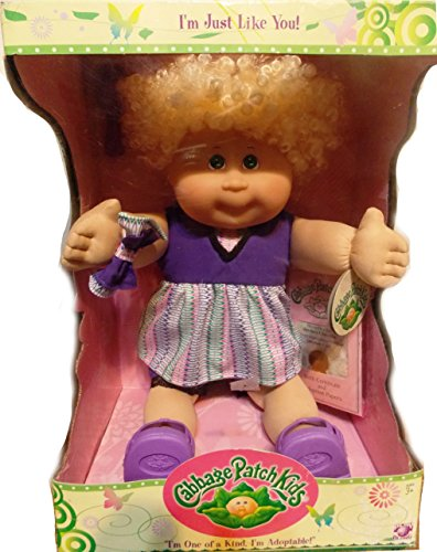 Cabbage Patch Kids Doll - I'M Just Like You! Blonde, Curly Hair, Green Eyes Adoptable Cabbage Patch front-970381