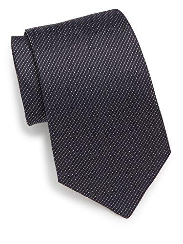 Armani-Collezioni-Mens-Pinstriped-Silk-Tie-OS-Navy