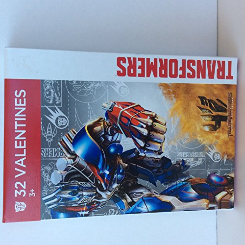 Paper Magic 32CT Showcase Transformers 4 Kids Classroom Valentine Exchange Cards - 1