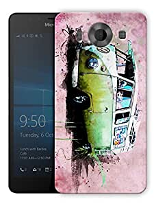 "Humor Gang Mini Travel Van Printed Designer Mobile Back Cover For ""Nokia Lumia 950"" (3D, Matte, Premium Quality Snap On Case)"