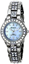 Armitron Women's 75/3689BMDG Blue Swarovski Crystal Accented Gunmetal Bracelet Watch